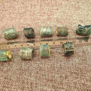 חרוזים בגודל בינוני, טורקיז, כחול, כתום, ירוק - תפזורת