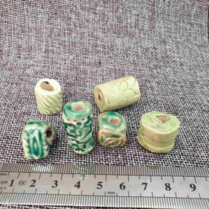 חרוזים גדולים בתפזורת - כתום, ירוק, כחול, טורקיז
