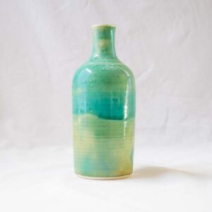 בקבוק פורצלן ירוק טורקיז