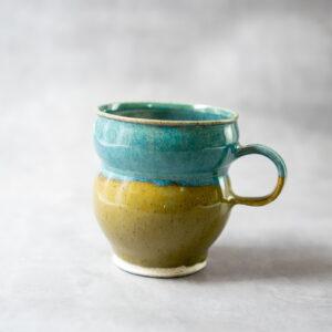 כוס חרדל טורקיז