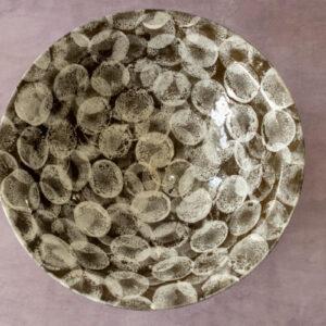 קערת עיגולים (חום/לבן)