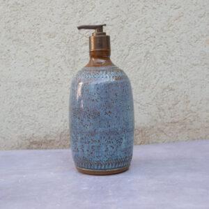 בקבוק לסבון -כחול/חום